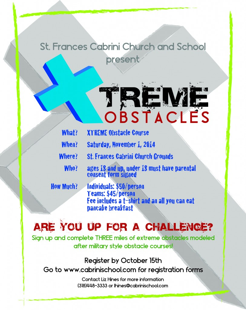 Xtreme Obstaclke course Flyer